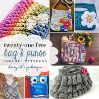 21 Free Purse Crochet Patterns by Daisy Cottage Designs, via Flickr