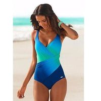 2018 New Women Summer Swimming Suit Gradient color high quality swimwear women beachwear One piece lady suits $28.00