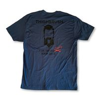 "THIGHBRUSH® - ""For Those Naughty Hair Days"" - Men's T-Shirt - Navy Blue and Black"