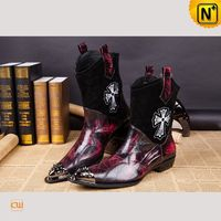 Men Leather Shoes | CWMALLS® Moscow Leather Ankle Boots CW750126 [Limited Product, Custom Made]