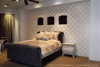 Feature Wall Ideas with Metallics and Stencils | Royal Design Studio
