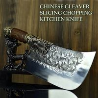 Handmade Chinese Cleaver Chef Knife Dragon Style Home Tool Kitchen Knives ILS635.00
