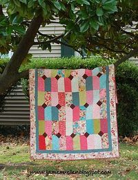 for Sarah? I need a pattern with a large block to show off the pattern of one fabric... I'm thinking this could work.
