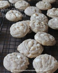 Pumpkin Spice White Chocolate Pudding Cookies Let's talk a few minutes about cookies. Cookies are the ultimate food. Now before everyone gets all out of shape a