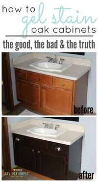 Posts Similar To Easy Gel Stain For Those Oak Cabinets
