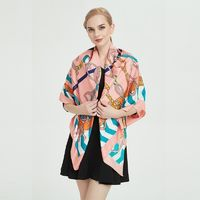 In the spring of 2007, the new silk scarf ladies zebra belt 130cm twill silk oversized printed square shawl $62.6120% off code: fairytale