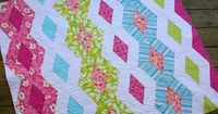 Diamond Chain Quilt - ready for binding by twinfibers, via Flickr