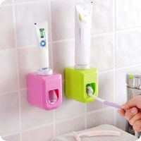 Automatic Toothpaste Dispenser Squeezer Wall Mount Auto Squeezer Toothpaste Dispenser Hands Free Squeeze Out $7.99