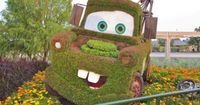 Growing Up Disney: Five Photos: Radiator Springs at the Flower and Garden Festival....GOTTA LOVE MATER!