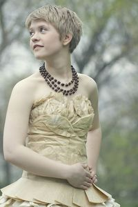 Looking for unusual dress ideas? Check out this dress made out of coffee filters.