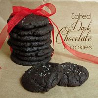 Salted Dark Chocolate Cookies-the addition of sea salt sprinkled on top of a dark chocolate cookie makes them irresistible! Do you love the taste of Oreos? I lo