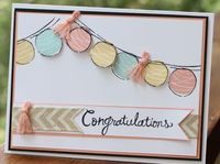 Happy Congratulations Stampin' Up! www.stampwithheather.ca