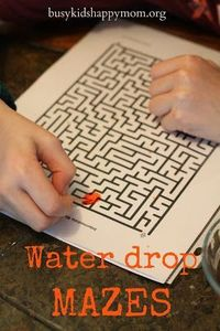 Water Mazes - Entertainment with One Drop of Water! busykidshappymom.org