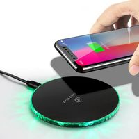 Bakeey 10W LED Light Fast Charging Wireless Charger For iPhone 8 Plus XS 11Pro Huawei P30 Mate 30 5G Xiaomi 9Pro S10+ Note 10 5G