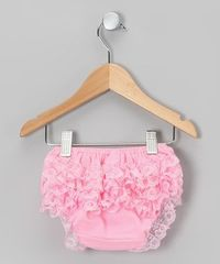 Take a look at this Pink Lace Ruffle Diaper Cover - Infant & Toddler by Tutus by Tutu AND Lulu on #zulily today!