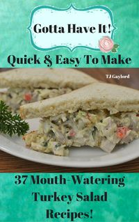 Not sure what to do with all of those Thanksgiving leftovers? Repurpose them in these  37 Mouth-Watering Turkey Salad Recipes! Easy but delicious turkey mayonnaise and a few, delicate seasonings are all your leftover turkey salad really needs to make a g...