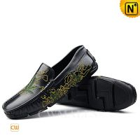 CWMALLS® Men Embroidered Leather Moccasins CW708222[Leather Shoes Reviews, Custom Made]