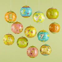 12 days of Christmas ornaments. Cute, but also pricey. About $45!