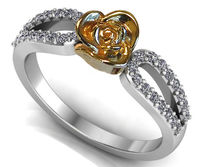 18K Rose Flower Twist Ring White Gold Ring Love Ring Promise Ring Unique Engagement Ring Floral ring Mother to Daughter Gift For Her $799.00