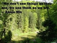 We don`t see things as they are