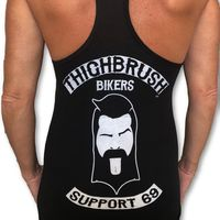 "THIGHBRUSH® BIKERS - ""SUPPORT 69"" - Women's Tank Top - Black and White"