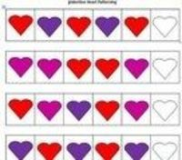 #ValentinesDay Heart Patterning for #Preschool and #Kindergarten
