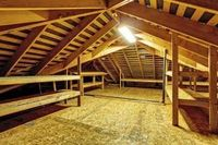 Covering part or all of the ceiling joists in the attic is a cheap way to make use of wasted space. Installing the subfloor is the easy part. The difficulty com