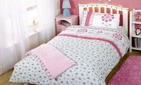 Generic Pippa Flowers Single Duvet Cover and Pillowcase The perfect duvet for girlie girls. 48% cotton, 52% polyester. Machine washable. http://www.comparestoreprices.co.uk//generic-pippa-flowers-single-duvet-cover-and-pillowcase.asp