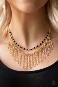 Paparazzi Fierce in Fringe-gold $5.00