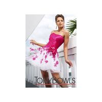 Tony Bowls Shorts Fuchsia and White Short Party Prom Dress TS11278 - Brand Prom Dresses|Beaded Evening Dresses|Charming Party Dresses