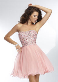 Short Beaded Homecoming Dreses Mori Lee 9255