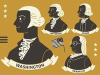 Been drawing some of them Founding Fathers for an exhibition design our studio has been designing. Will eventually be part of a large interactive display.