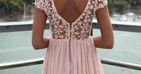 pink lace dress <3 - love the v cut in the back