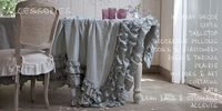 dining chair ruffle cover