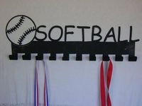 Softball Steel Medal Display Hanger $46.99 �œ� Handcrafted in USA! �œ� Support American Artisans