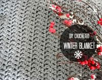 I am so excited to share this Crocheted Winter Blanket Tutorial with you today because its something that has taken me a long time to complete.