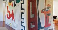 Le Corbusier painted this mural in a Long Island house.