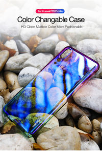 Bakeey Gradient Aurora Color Plating Shockproof PC Protective Case for Huawei P20