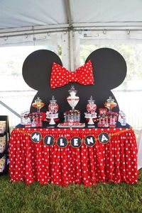 This sweet MINNIE MOUSE BIRTHDAY PARTY was submitted by Stephanie Gutierrez of El Evento. What a cute party! I especially love the darling red and white polka d
