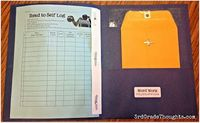 A Peek Inside My Reader's Workshop Folder: How to organize for Teacher Time, Word Work and a Reading Log freebie