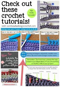 Check out these Crochet Tutorials