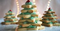 12 Days of Gluten Free Cookies - Stacked Star Christmas Tree Sugar Cookies. Tasty, and it makes an enchanting centerpiece! Made with Pamela's All-Purpose Flour Artisan Blend.