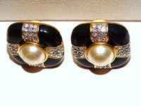 S.A.L. signed Gold Tone clip on Earrings. $39.50