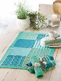 Soft Shells Runner & Stitch Blocks Knit Patterns