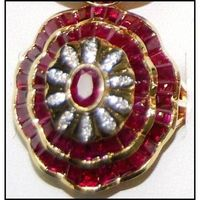 Eternity 18K Yellow Gold Ruby and Diamond Cocktail Ring [RF0024]