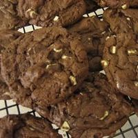 chocolate chocolate chip cookies made with chocolate cake mix, 2 eggs, chocolate chips and butter (or I always used oil instead of butter). these were my specialty in high school! :)