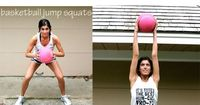 Medicine Ball Interval Workout - Repeat the following sequence 5 times, doing each of the 6 moves for 50 seconds. Take a 10-second break in between each move.