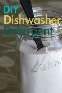 How to make DIY Dishwasher Detergent to save money and green cleaning.