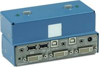 K202B-SH 2 Port DVI-I Secure KVM switch eliminates points of vulnerability that have plagued other KVM units. K202B-SH is a 2 port secure KVM Switch offers impressive levels of communications, even when connecting computers