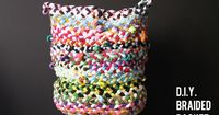 Oooh, a fun DIY from corner blog: a colorful braided basket.